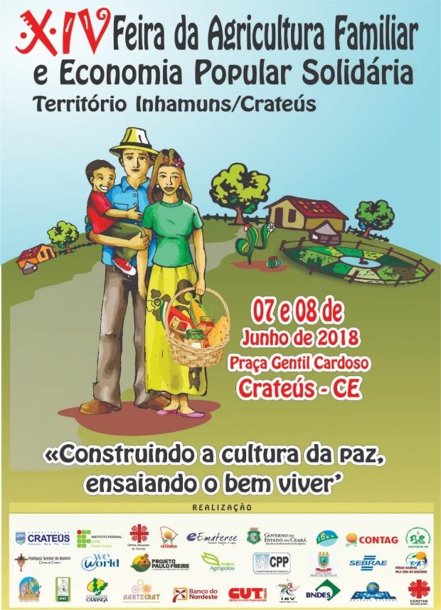 Um grande evento vai acontecer no Ceará: a Feira da Agricultura Familiar e Economia Popular Solidária dos Territórios de Inhamuns e Crateús. Este ano a Feira está na 14ª edição.
