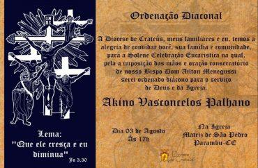 Convite – Ordenação Diaconal